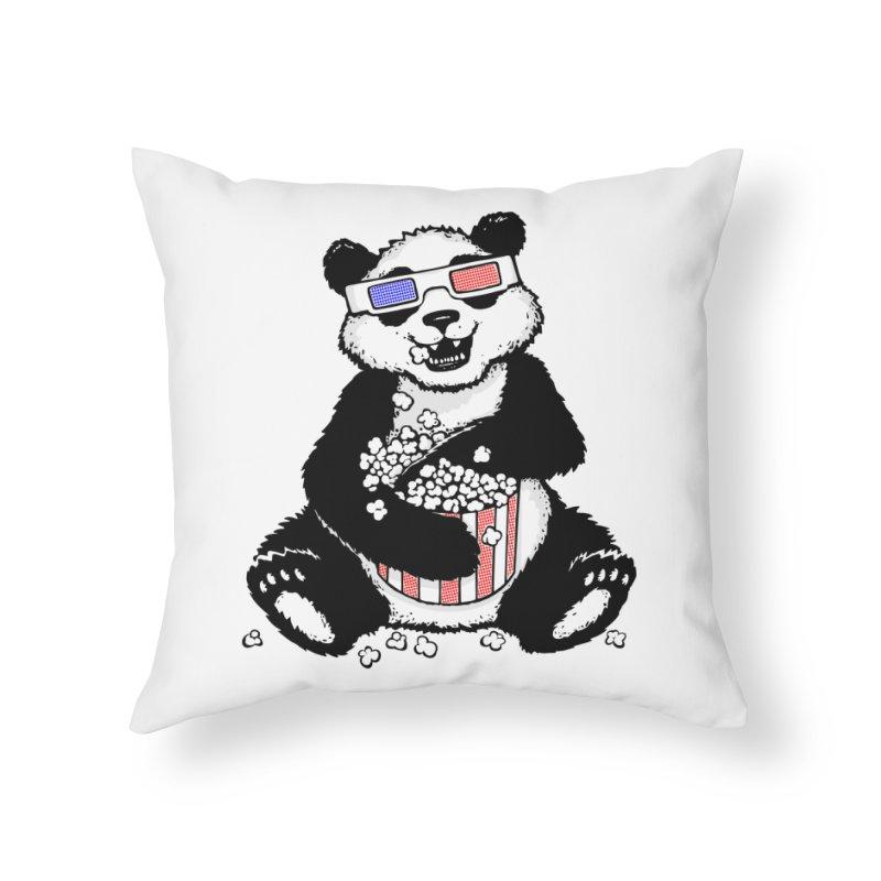 3-D Panda Home Throw Pillow by Jayme T-shirts