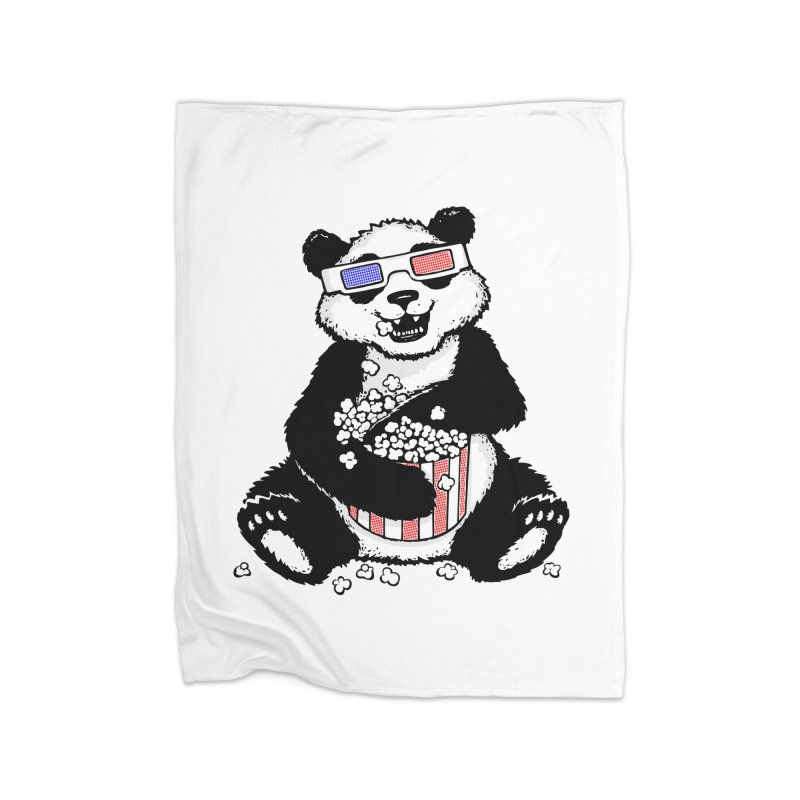 3-D Panda Home Blanket by Jayme T-shirts