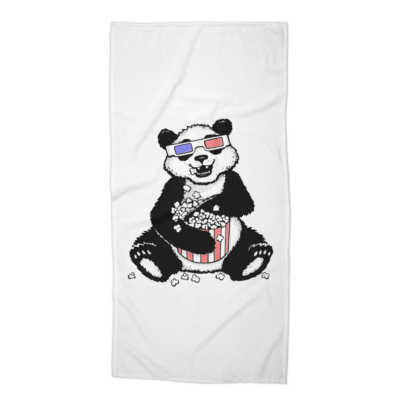 3-D Panda Accessories Beach Towel by Jayme T-shirts