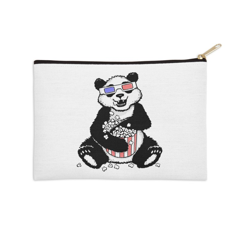 3-D Panda Accessories Zip Pouch by Jayme T-shirts