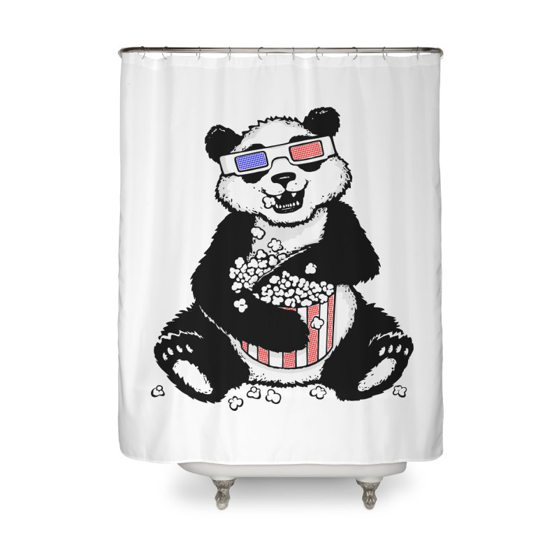 3-D Panda Home Shower Curtain by Jayme T-shirts