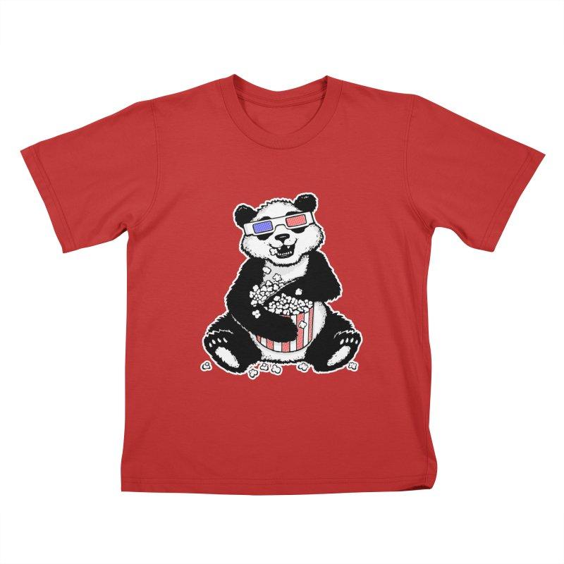 3-D Panda Kids T-Shirt by Jayme T-shirts