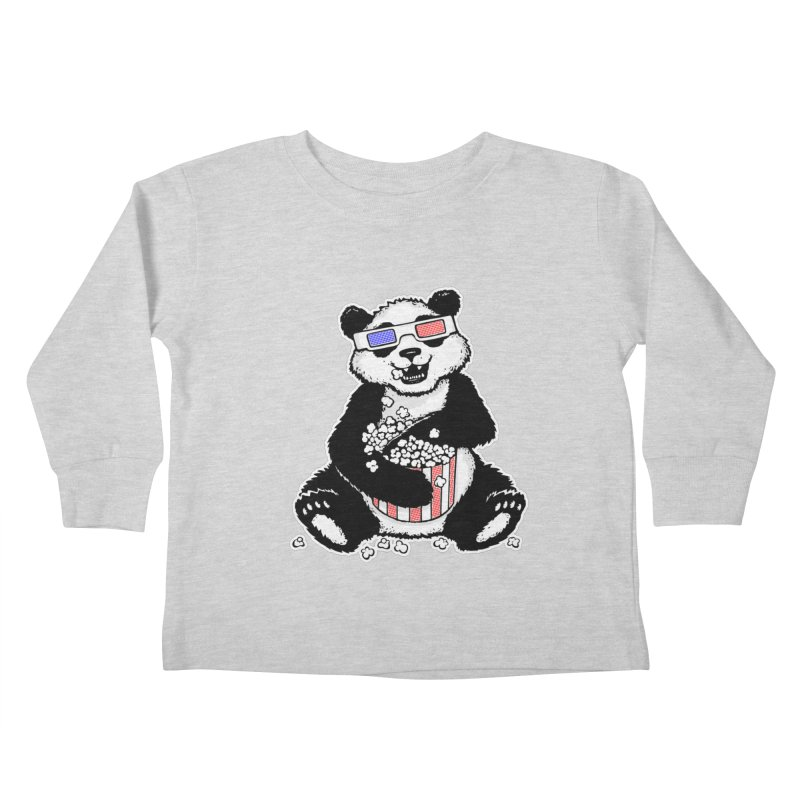 3-D Panda Kids Toddler Longsleeve T-Shirt by Jayme T-shirts