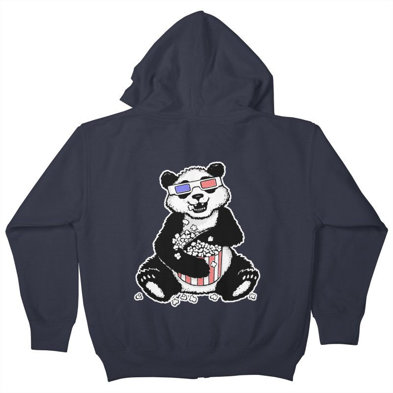 3-D Panda Kids Zip-Up Hoody by Jayme T-shirts