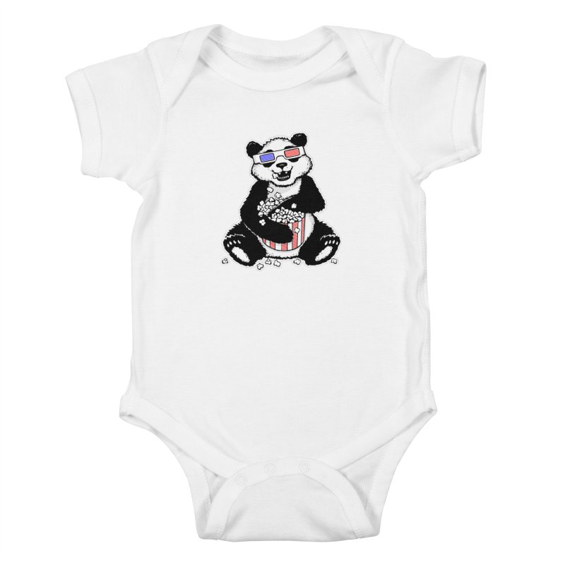 3-D Panda Kids Baby Bodysuit by Jayme T-shirts