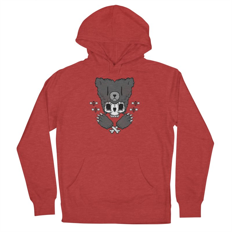 Bear Skull (smaller print) Men's Pullover Hoody by Jayme T-shirts