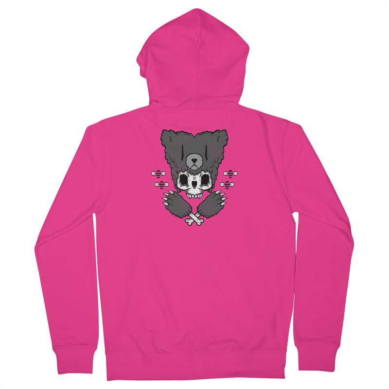Bear Skull (smaller print) Men's Zip-Up Hoody by Jayme T-shirts