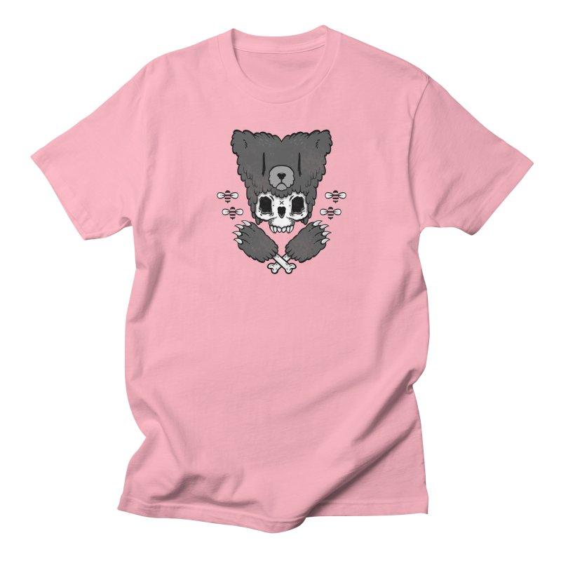 Bear Skull (smaller print) Men's T-shirt by Jayme T-shirts