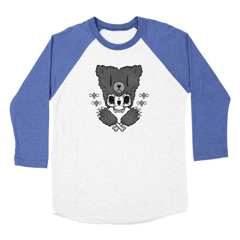 Bear Skull (smaller print) Women's Baseball Triblend T-Shirt by Jayme T-shirts