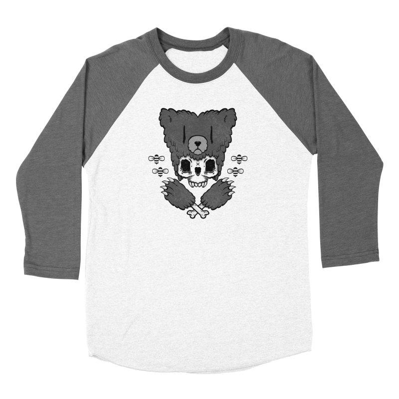 Bear Skull (smaller print) Men's Baseball Triblend T-Shirt by Jayme T-shirts