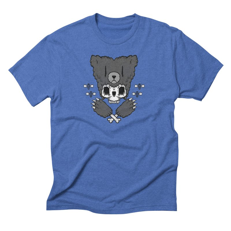 Bear Skull (smaller print) Men's Triblend T-shirt by Jayme T-shirts