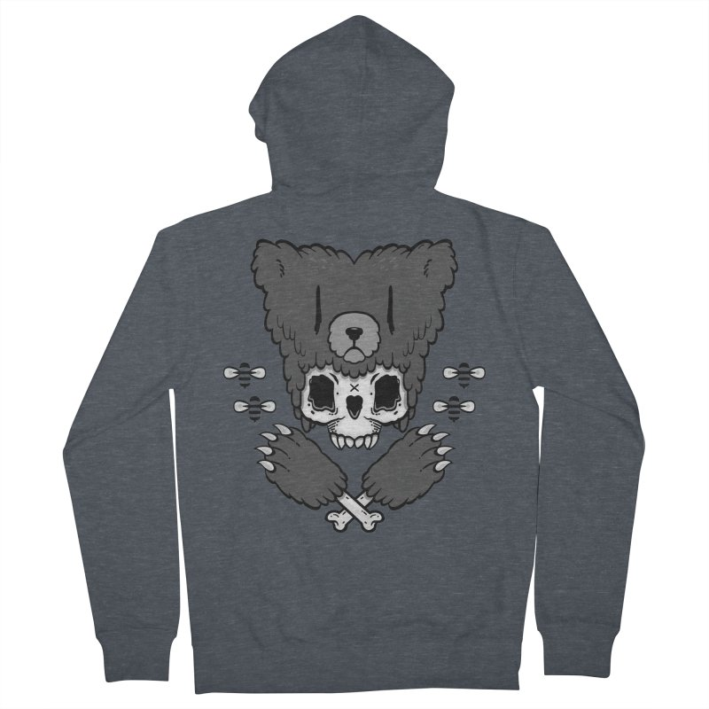 Bear Skull   Men's Zip-Up Hoody by Jayme T-shirts