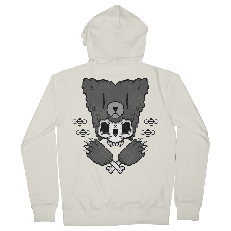 Bear Skull   Men's Zip-Up Hoody by Jayme T-shirts