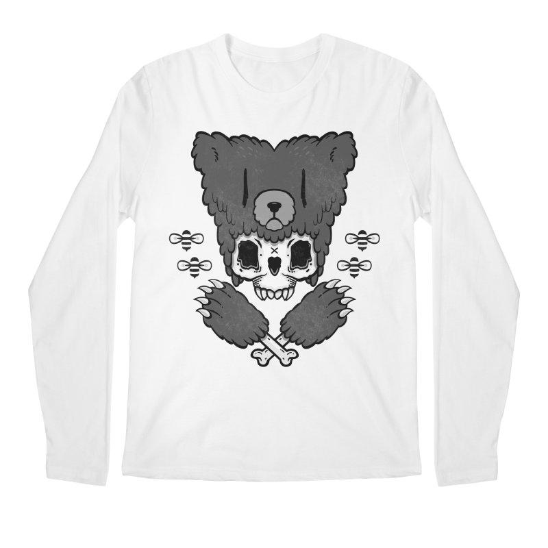 Bear Skull   Men's Longsleeve T-Shirt by Jayme T-shirts
