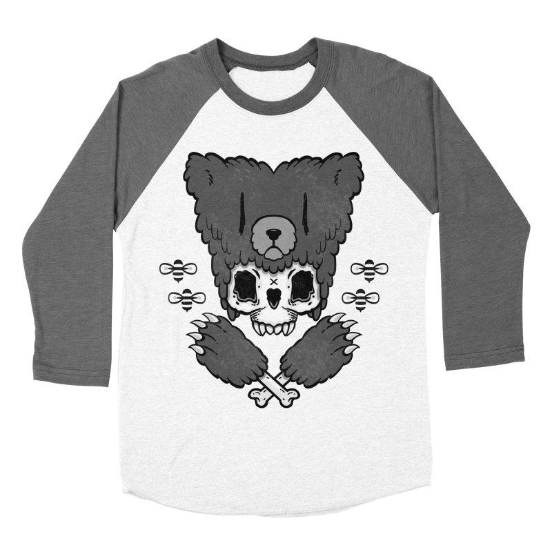 Bear Skull   Women's Baseball Triblend T-Shirt by Jayme T-shirts