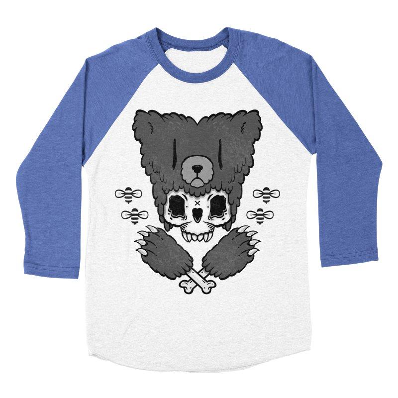 Bear Skull   Men's Baseball Triblend T-Shirt by Jayme T-shirts
