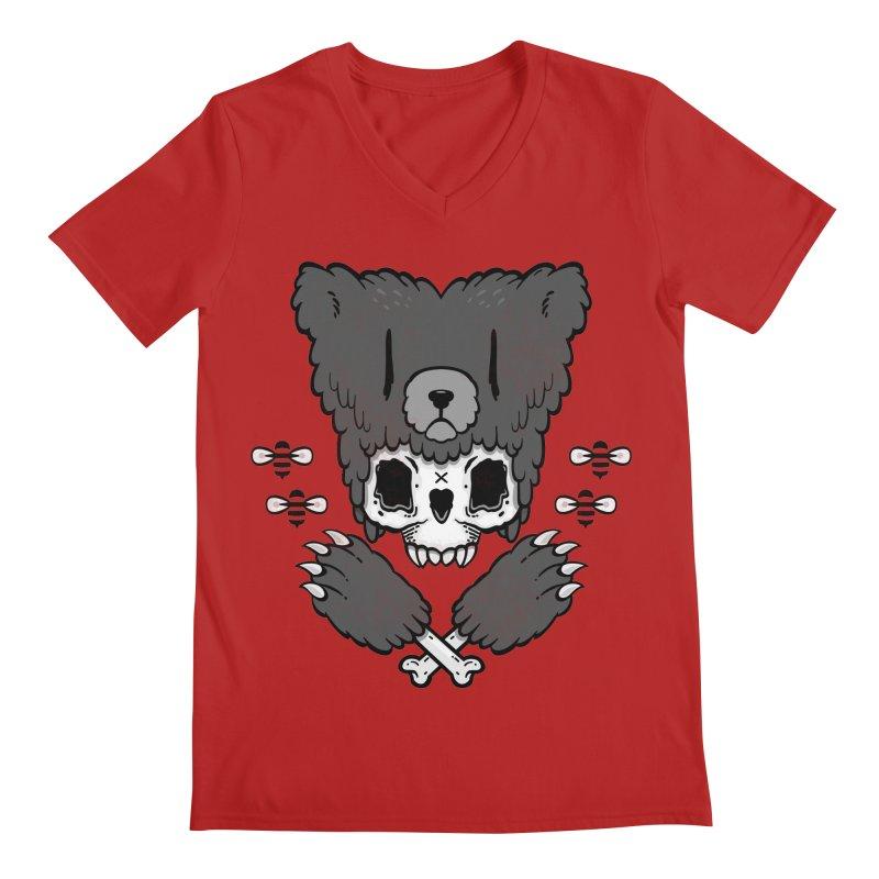 Bear Skull   Men's V-Neck by Jayme T-shirts