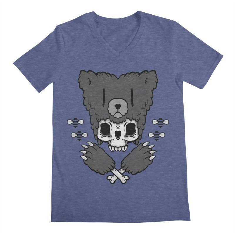 Bear Skull   Men's V-Neck by Jayme T-shirts