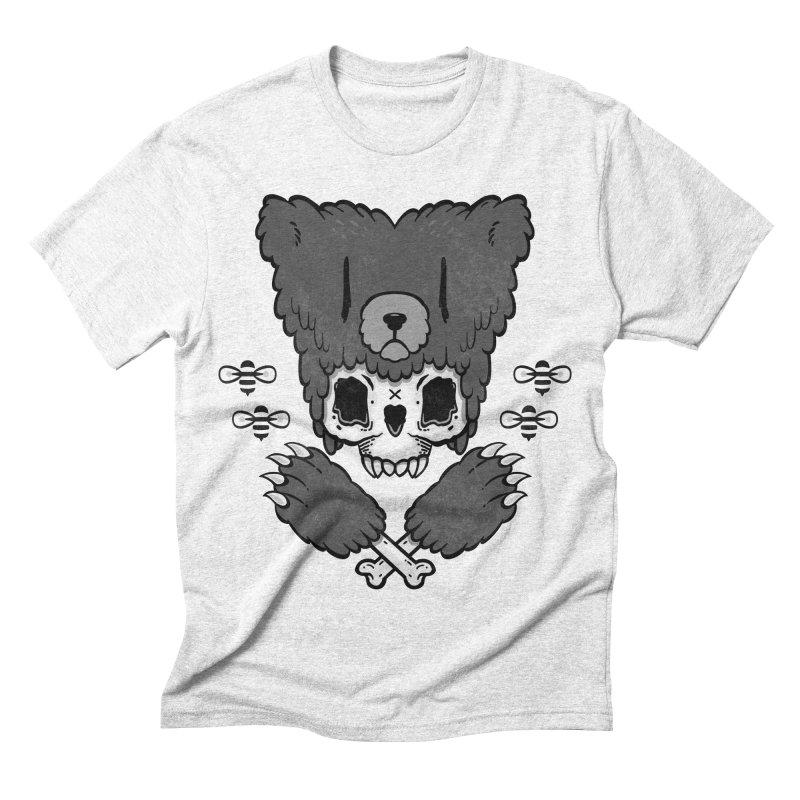 Bear Skull   Men's Triblend T-shirt by Jayme T-shirts