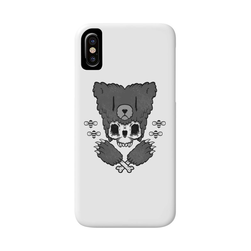 Bear Skull   Accessories Phone Case by Jayme T-shirts