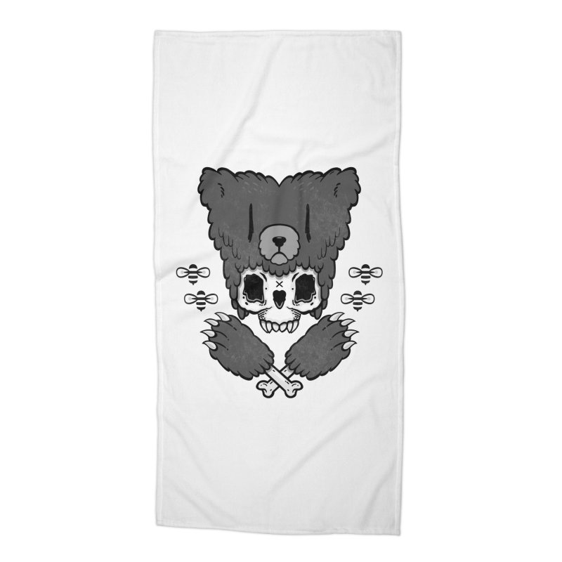 Bear Skull   Accessories Beach Towel by Jayme T-shirts