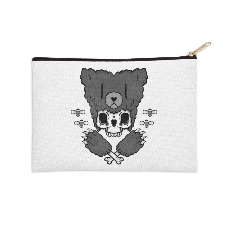 Bear Skull   Accessories Zip Pouch by Jayme T-shirts