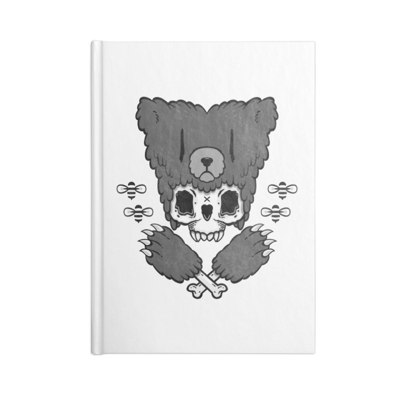 Bear Skull   Accessories Notebook by Jayme T-shirts