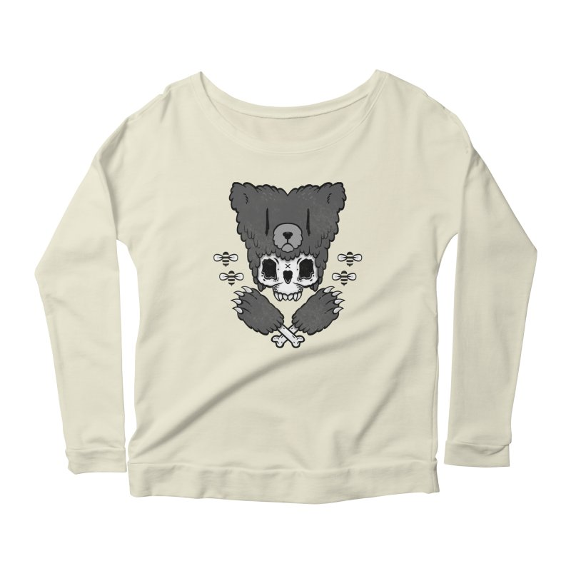 Grizzzly Women's Longsleeve Scoopneck  by Jayme T-shirts