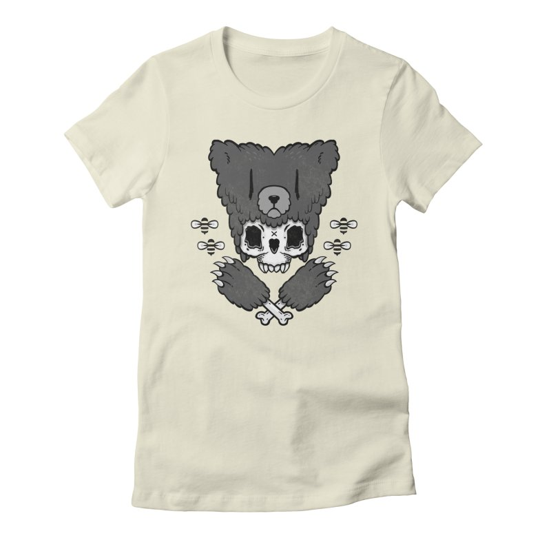 Grizzzly Women's Fitted T-Shirt by Jayme T-shirts
