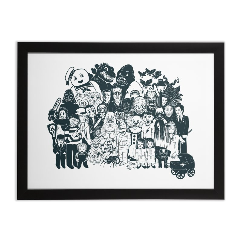 Monsters Home Framed Fine Art Print by Jayme T-shirts