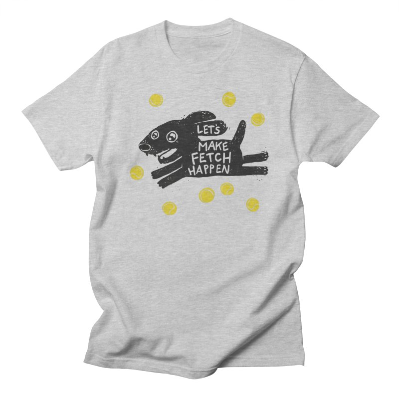 Fetch in Men's T-shirt Heather Grey by Jayme T-shirts