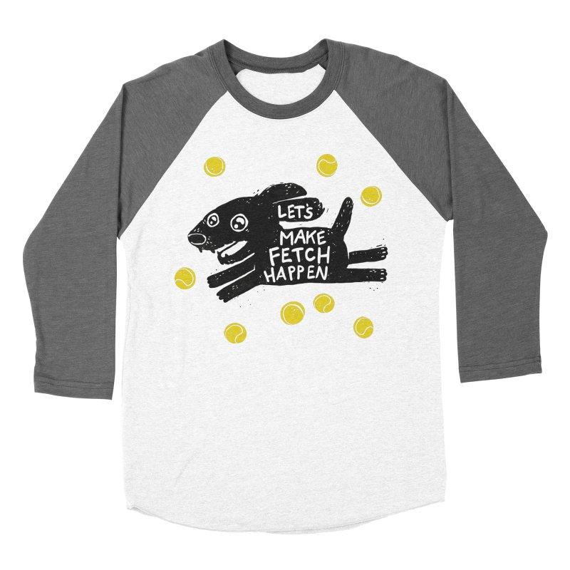 Fetch Women's Baseball Triblend T-Shirt by Jayme T-shirts