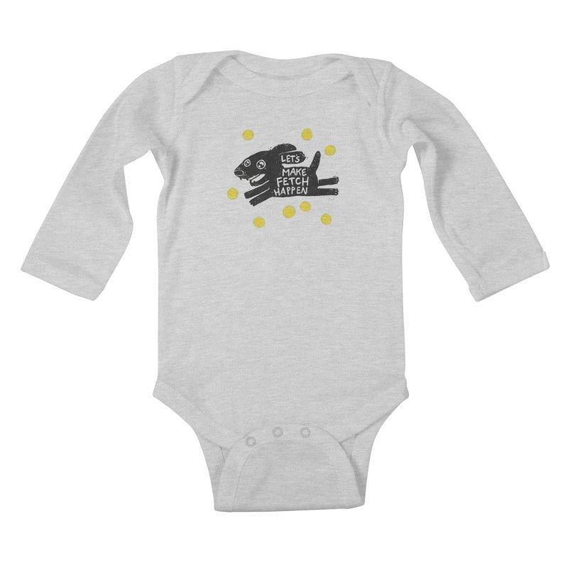 Fetch Kids Baby Longsleeve Bodysuit by Jayme T-shirts