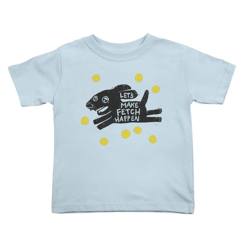Fetch Kids Toddler T-Shirt by Jayme T-shirts