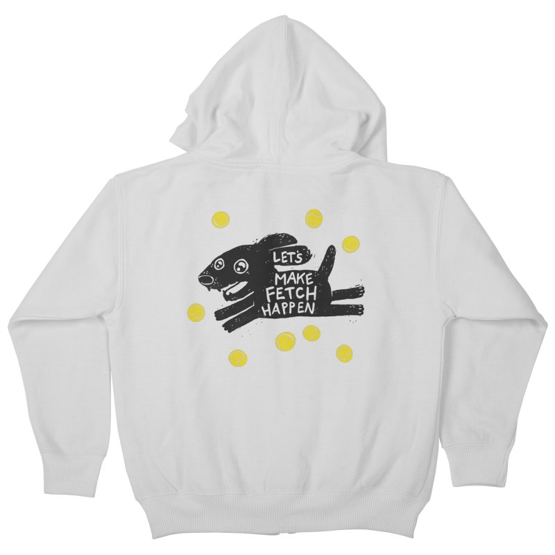 Fetch Kids Zip-Up Hoody by Jayme T-shirts