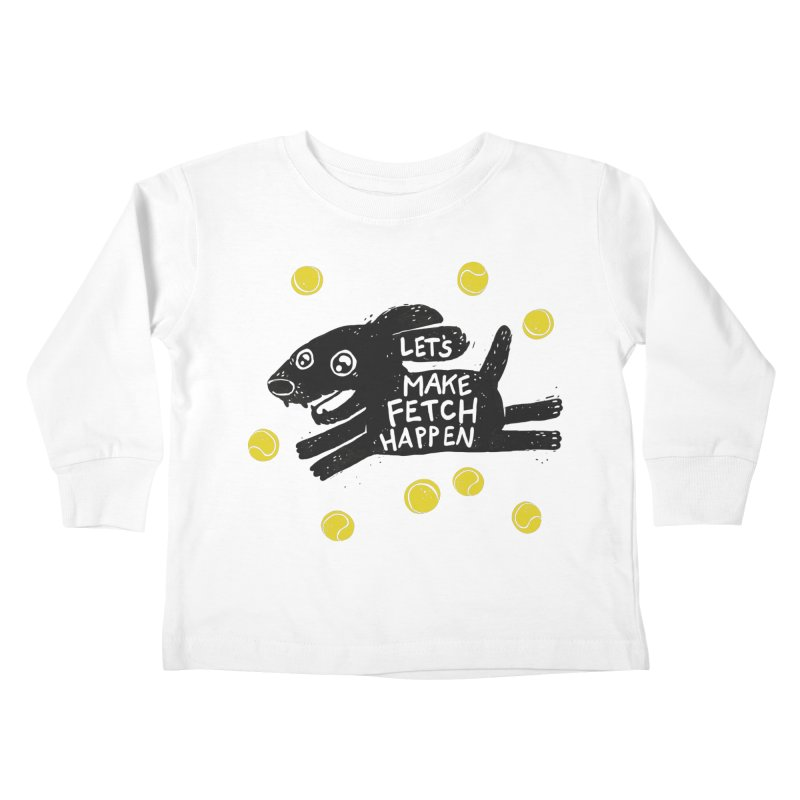 Fetch Kids Toddler Longsleeve T-Shirt by Jayme T-shirts