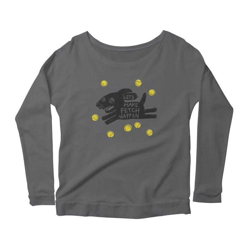 Fetch Women's Longsleeve Scoopneck  by Jayme T-shirts