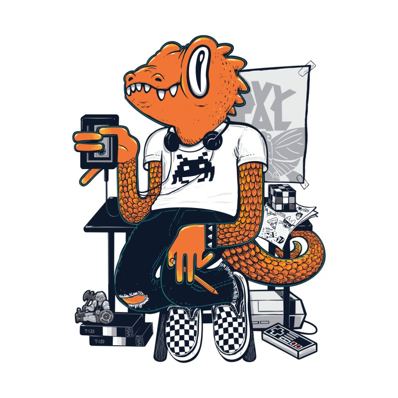 Retro Raptor by Jayme T-shirts