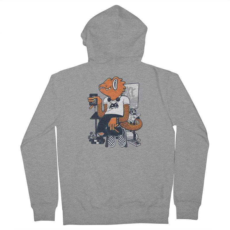 Retro Raptor Men's Zip-Up Hoody by Jayme T-shirts