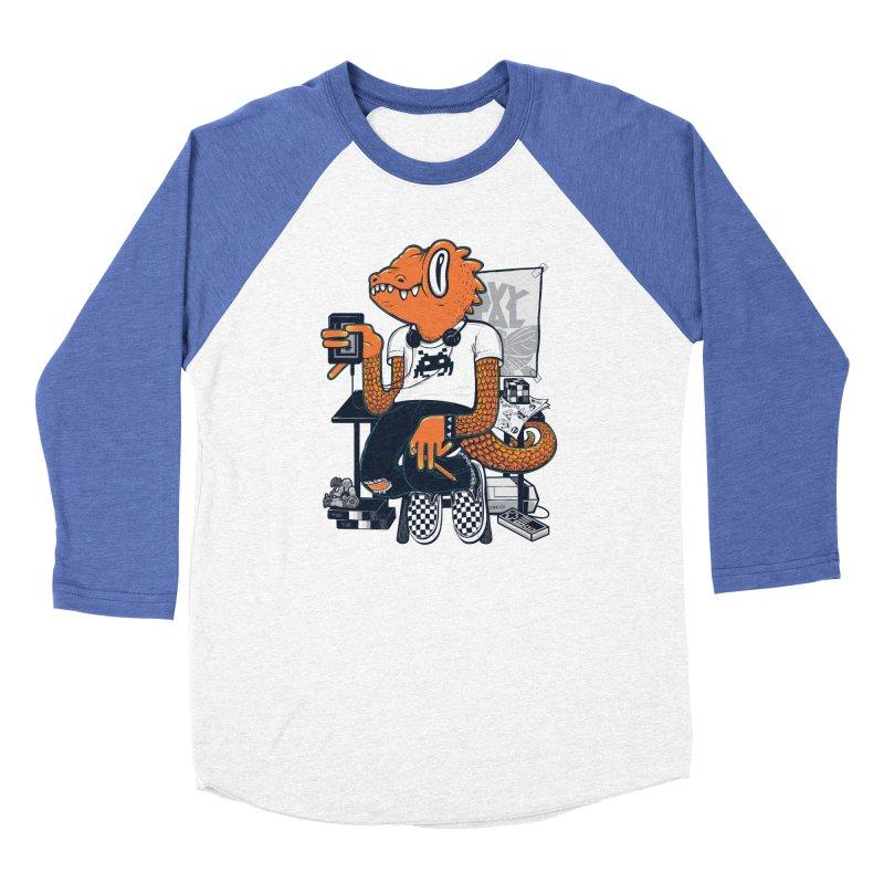 Retro Raptor Men's Baseball Triblend T-Shirt by Jayme T-shirts