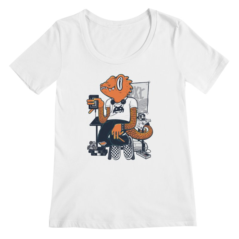 Retro Raptor Women's Scoopneck by Jayme T-shirts