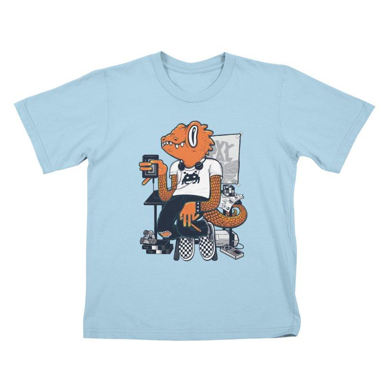 Retro Raptor Kids T-Shirt by Jayme T-shirts