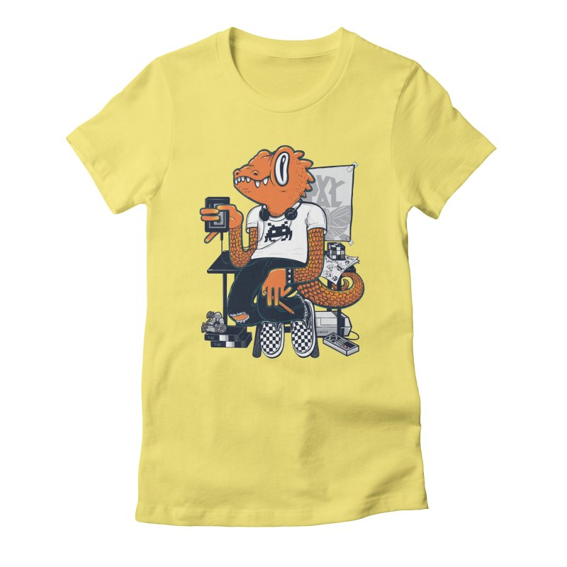 Retro Raptor Women's Fitted T-Shirt by Jayme T-shirts