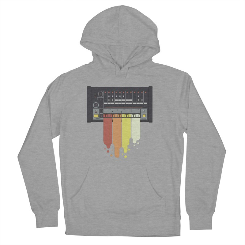 Drum Machine in Men's Pullover Hoody Heather Graphite by Jayme T-shirts