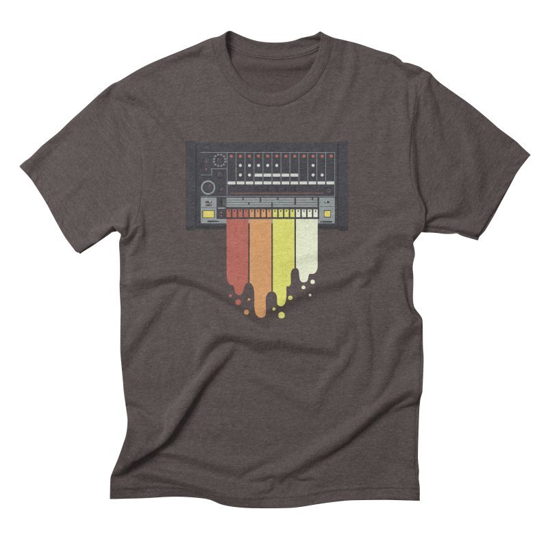 Drum Machine in Men's Triblend T-Shirt Tri-Coffee by Jayme T-shirts
