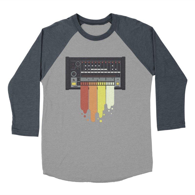 Drum Machine Women's Baseball Triblend T-Shirt by Jayme T-shirts