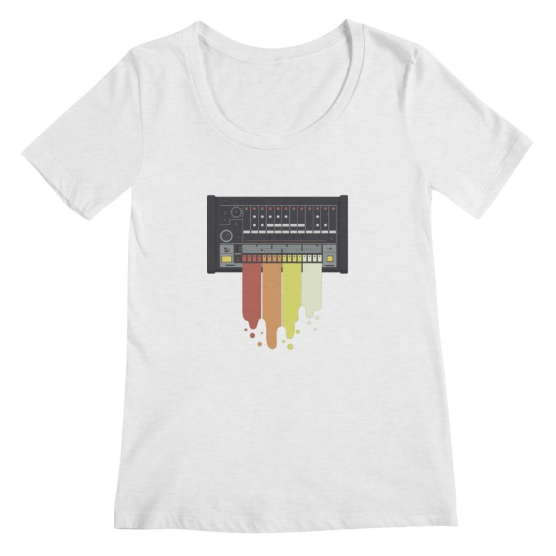 Drum Machine Women's Scoopneck by Jayme T-shirts