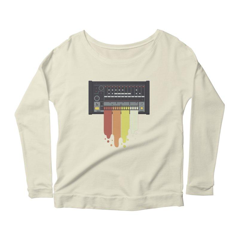 Drum Machine Women's Longsleeve Scoopneck  by Jayme T-shirts