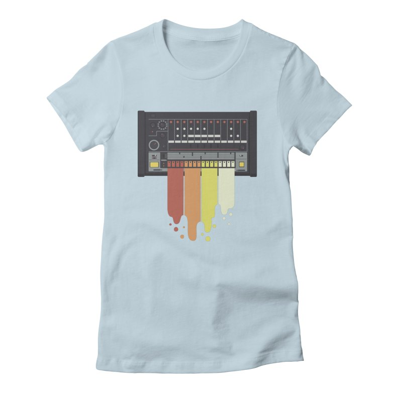 Drum Machine Women's Fitted T-Shirt by Jayme T-shirts