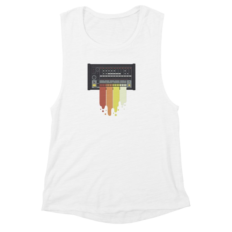 Drum Machine Women's Muscle Tank by Jayme T-shirts